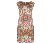 Kleid im Vintage-Stil mischfarben / rot