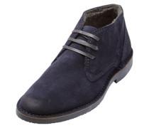 Veloursleder-Desert-Stiefel blau