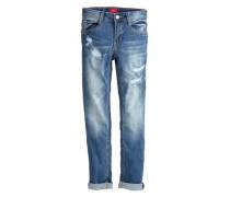 Skinny Seattle: Destroyed-Jeans blau