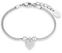 Armband mit Zirkonia »Herz So1443/1« silber