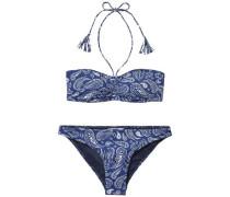 Bikini 'thdw Print Bikini 13' blau