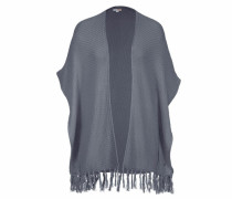 Strickcape blau / grau