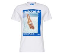 T-Shirt 'girl Tee' blau / weiß