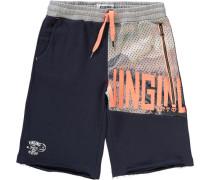 Shorts für Jungen dunkelblau / pastellorange