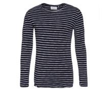 Sweatshirt mit offenkantiger Verarbeitung 'Omesh' schwarz