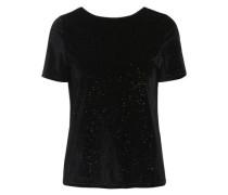 Velours T-Shirt schwarz