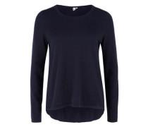 Pullover mit Knopfleiste blau