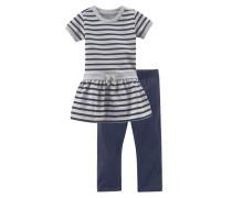 Kleid & Leggings (Set 2 tlg.) blau / grau