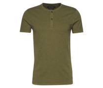 T-Shirt im Serafino-Look dunkelgrün