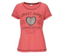 Shorty & süßes Kurzarmshirt lachs / pink / schwarz