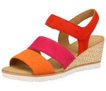 Sandale orange / rot / dunkelpink