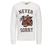 Sweatshirt Tigerpatch weiß