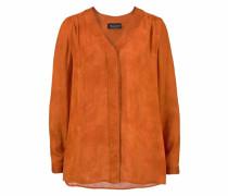 Langarmbluse orange