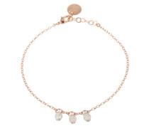 Armband 'Briolet Swarovski' gold / pink