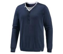 V-Pullover Herren blau