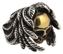 Ring mit Totenkopf gold / silber