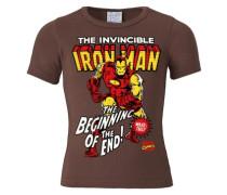 T-Shirt Iron Man Logo - Marvel braun