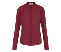 Bluse 'cyler Collar' weinrot