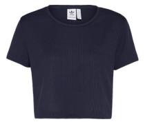 T-Shirt 'slim Crop' dunkelblau
