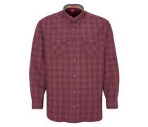 Regular: Button-Down-Hemd mit Karomuster karminrot