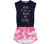 Jerseykleid dunkelblau / pink