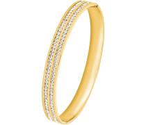 Armreif mit Swarovski Kristallen gold