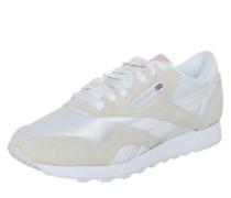 Sneaker aus Materialmix beige / weiß