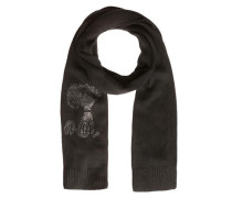 Woll-Schal mit Peanut-Motiv schwarz