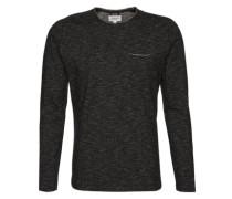Sweatshirt mit Brusttasche schwarz