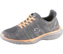 'studio Burst Edgy' Sneaker grau / pastellorange