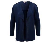 Cardigan im Material-Kontrast navy / blau