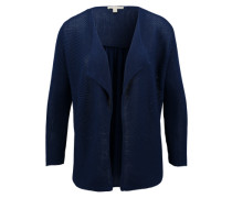 Cardigan im Material-Kontrast blau