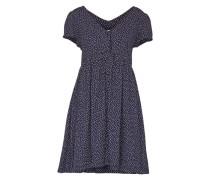 Kleid mit Print dunkelblau / weiß