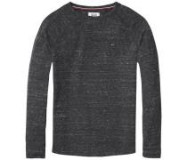 Hilfiger Denim T-Shirt 'thdm RLX TXT CN Knit L/S 24' dunkelgrau
