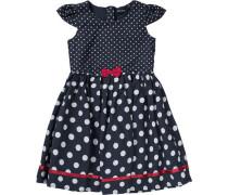 Kinder Kleid nachtblau / weiß