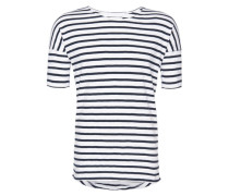 T-Shirt 'Mallow' blau / weiß