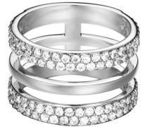 Ring mit Zirkonia »-Jw52896 Esrg02784A« grau