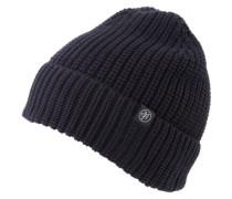Mütze 'Hat knit half cardigan fold up' blau