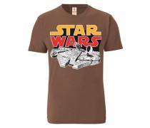 """T-Shirt """"Krieg der Sterne"""" braun"""