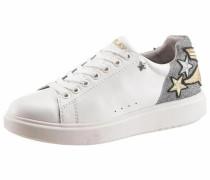 Sneaker 'Sako' gold / silber / weiß