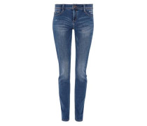 'Shape Slim' Jeans mit Stitching blau