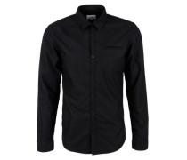 Extra Slim: Oxford-Hemd schwarz