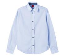 Slim: Hemd mit Kontrast-Details blau