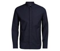 Businesshemd Ratière-Musterdruck blau