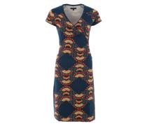Jerseykleid mit Allover-Print blau
