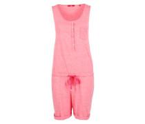 Melierte Jumpsuit aus Jersey pink