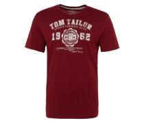 T-Shirt weinrot / weiß