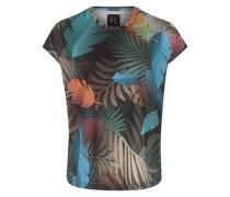 T-Shirt mit Palmen-Print mischfarben