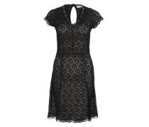 Kleid mit Spitzen-Layer schwarz