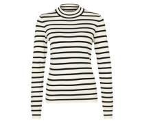 Feinstrickpullover 'Glory Stripes' weiß